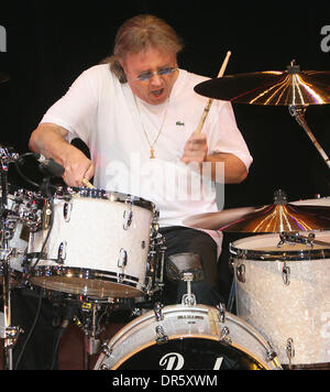 Feb 08, 2009 - Moscow, Russia - Member of Deep Purple legendary English rock band IAN PAICE (drums) gives his personal - Stock Photo