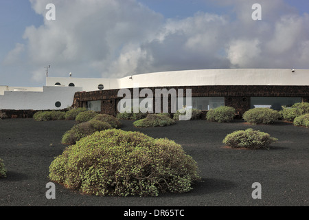 Building of the Jameos del Agua, in the lava field of the Volcan de la Corona, Lanzarote, Canary islands, canaries, - Stock Photo
