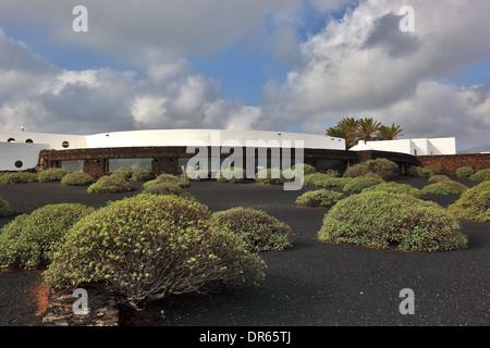 Building of the Jameos del Agua, in the lava field of the Volcan de la Corona, Lanzarote, Canary islands, canaries, - Stock Photo