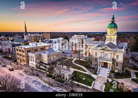 Downtown Athens Georgia Usa Night Scene Stock Photo