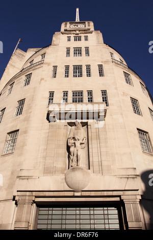 BBC Broadcasting House London England UK - Stock Photo