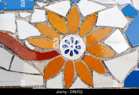 Colored stone tiles, Cala Figuera, Majorca, Spain - Stock Photo