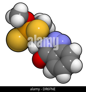Azinphos-methyl organophosphate insecticide. Acts as neurotoxin through the inhibition of acetylcholinesterase. - Stock Photo
