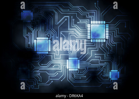 Circuit board graphic - Stock Photo
