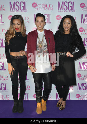 London, UK . 20th Jan, 2014.  Stooshe arrive at the MediaSKIN NTA Gifting Lounge at Penthouse,1 Leicester Square - Stock Photo