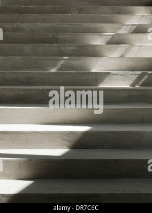 Interior view of The Culture Yard, Concrete stairs, Elsinore, Denmark - Stock Photo