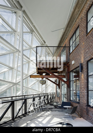 Interior view of The Culture Yard, Elsinore, Denmark - Stock Photo