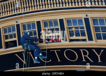 Portsmouth, Hampshire, UK Monday 20 January 2014. The National Museum of the Royal Navy plan to spend about 2 million - Stock Photo