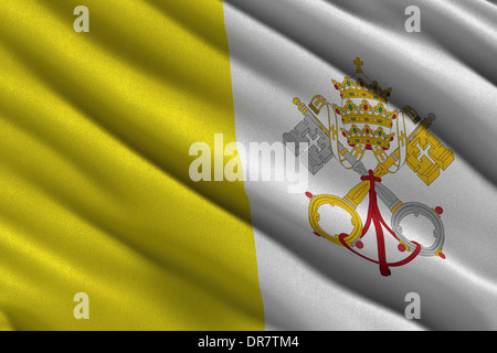 Flag of the Vatican City - Stock Photo