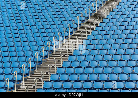 Empty grandstand, Scotland, United Kingdom - Stock Photo