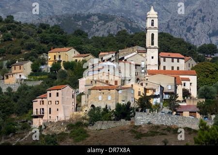 Mountain village of Soveria, Haute-Corse, Corsica, France