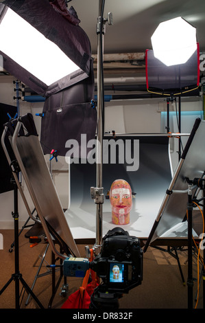 Commercial photography studio including lighting background and commercial photography set of unique ceramic sculpture including lighting background and grip gear aloadofball Images