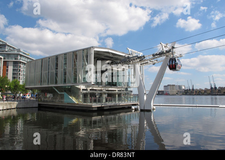 Emirates Royal Dock Station, The Northern Terminus For The Thames Cable Car River Crossing. - Stock Photo