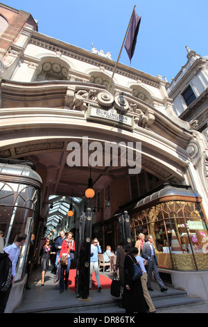 united kingdom central london piccadilly entrance to the burlington arcade - Stock Photo