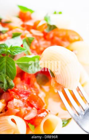 Pasta with tomato - Stock Photo