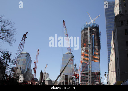 Building work at Ground Zero, New York, USA - Stock Photo