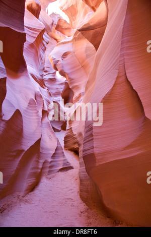 Lower Antelope Canyon in Arizona, USA - Stock Photo