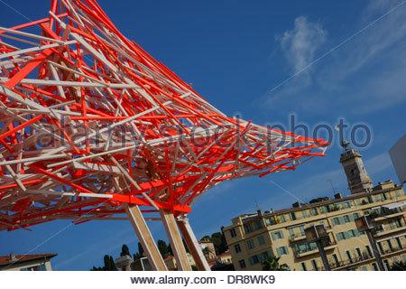 Nizza, Musee d art moderne et d art contemporain de Nice, Nice - Stock Photo