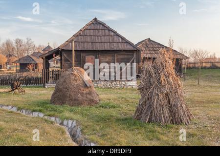 Country house in etno village Velika Plana in Serbia - Stock Photo