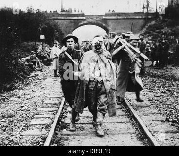 Wounded prisoner 1916 - Stock Photo