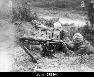 Machine gunners 1916 - Stock Photo