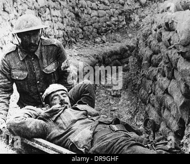 Wounded soldier 1916 - Stock Photo
