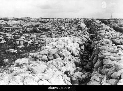Disused British trench 1916 - Stock Photo