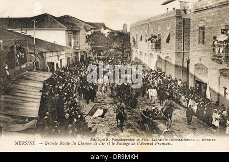 Procession of the French Admiral - Mersin - Stock Photo
