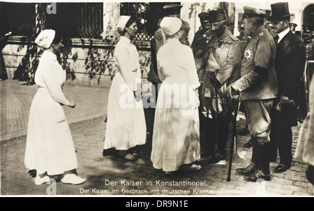 Kaiser Wilhelm II in Constantinople during WWI - Stock Photo