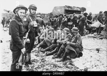 D-Day - German Prisoners - Stock Photo