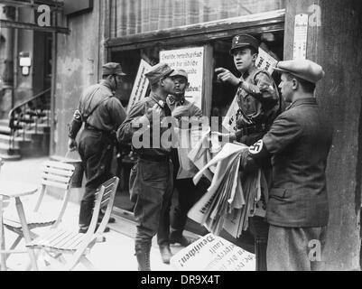 German boycott against Jewish traders - Stock Photo