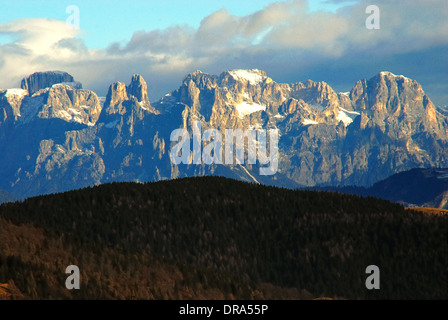 Southern Limestone Alps, Dolomites, the Pala group (Italian: Pale di San Martino, Dolomiti delle Pale or Gruppo - Stock Photo