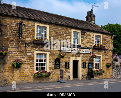 The Peacock a traditional stone built pub or inn in Bakewell town centre Peak District National  Park Derbyshire - Stock Photo