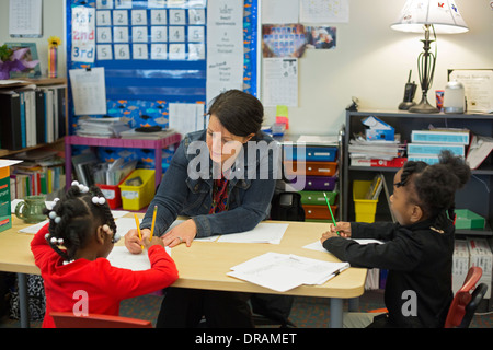 First Grade Classroom - Stock Photo