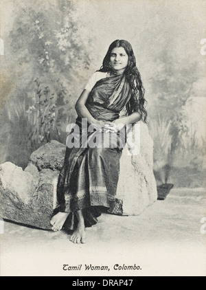 Tamil woman from Sri Lanka - Stock Photo