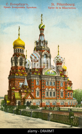 Church of the Resurrection, St Petersburg, Russia - Stock Photo