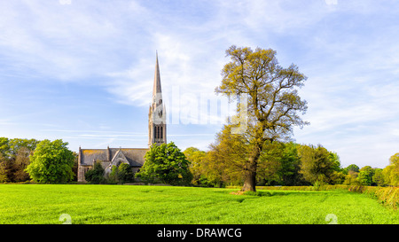 St Marys Church on a fine spring morning in the small village of South Dalton, East Riding of Yorkshire, UK. - Stock Photo