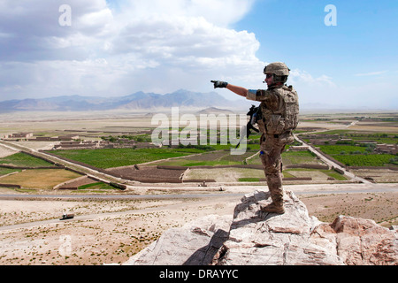 U.S. Army soldier in Afghanistan - Stock Photo