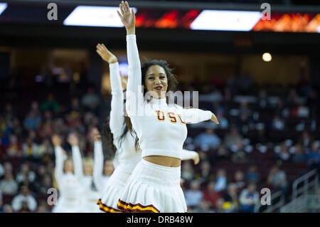 Los Angeles, CA, USA. 22nd Jan, 2014. January 22, 2014 - Los Angeles, CA, United States of America - USC Cheerleaders - Stock Photo