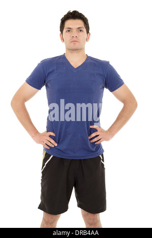 hispanic man in sporty outfit - Stock Photo
