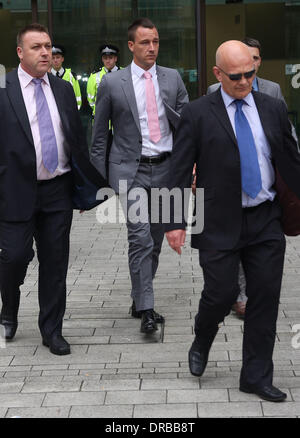 John Terry  leaves the City of Westminster Magistrates Court  London, England - 09.07.12 - Stock Photo