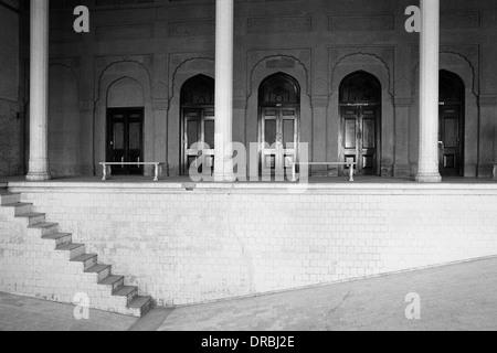Empty swimming pool, Lalgadh New Palace, Bikaner, Rajasthan, India, 1984 - Stock Photo