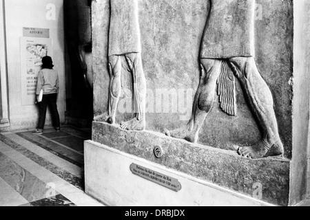 Egypt section inside Louvre Museum, Paris, France, 1986 - Stock Photo