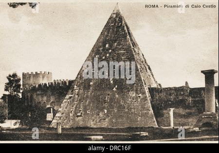 Pyramid of Cestius, Rome - Stock Photo
