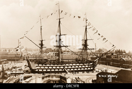 HMS Victory - Nelson's Flagship - Stock Photo