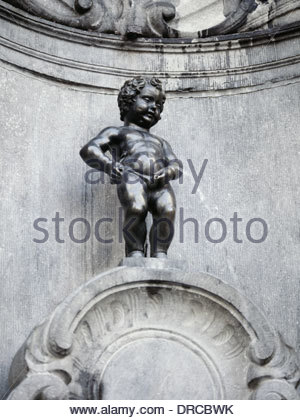 the manneken pis, brussells, belgium, europe - Stock Photo