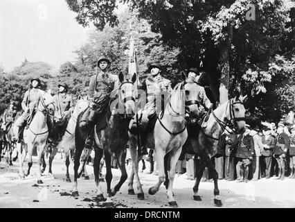 French cavalry WWII - Stock Photo