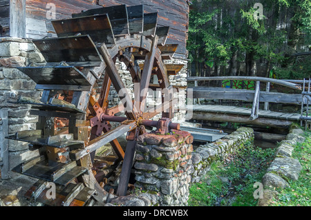 Old water wheel in the Bavarian forest germany