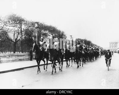 French cavalry WWI - Stock Photo