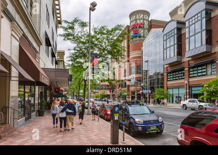 West Main Avenue at River Park Square in downtown Spokane, Washington , USA - Stock Photo